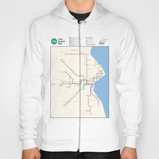 Milwaukee Transit System Map Hoody