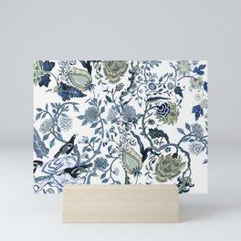 Blue vintage chinoiserie flora Mini Art Print