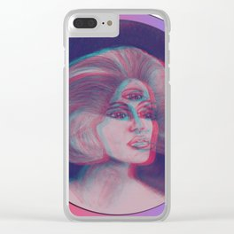 Anna Glyph: Three-Eyed Lady Clear iPhone Case