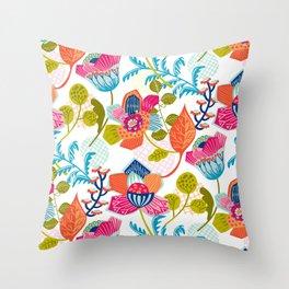 Tropical Jazz Throw Pillow