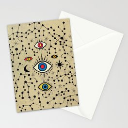 Cross Eyes Galaxy Stationery Cards