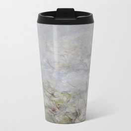 White Blossom Flowers Metal Travel Mug