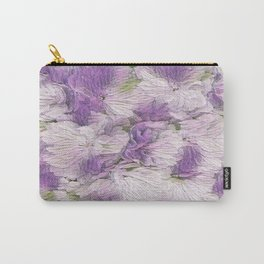 Purple - Lavender Fluffy Floral Abstract Carry-All Pouch