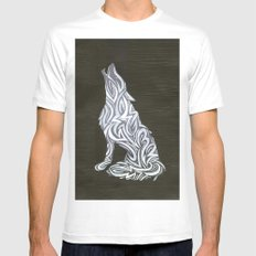 Wolf Mens Fitted Tee MEDIUM White