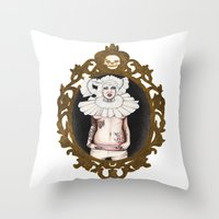 lucy Throw Pillows featuring Lucy by Cisternas