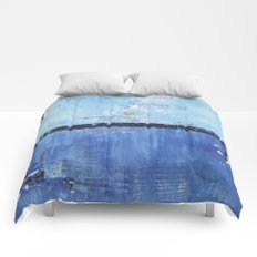 Shiver Abstract Art Blue Modern Water Painting  Comforters
