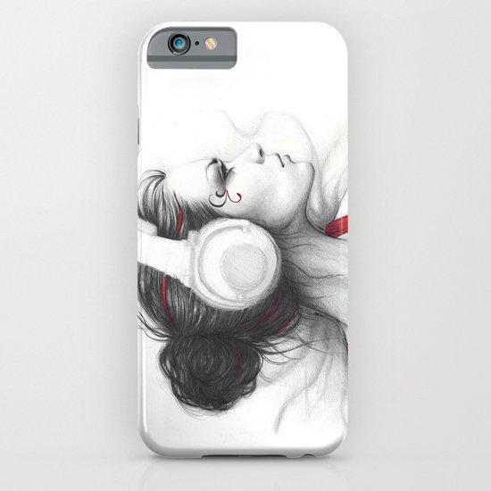 MUSIC Girl in Headphones iPhone & iPod Case