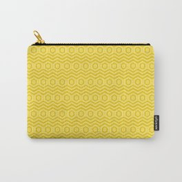 Geometrical abstract background of yellow color Carry-All Pouch