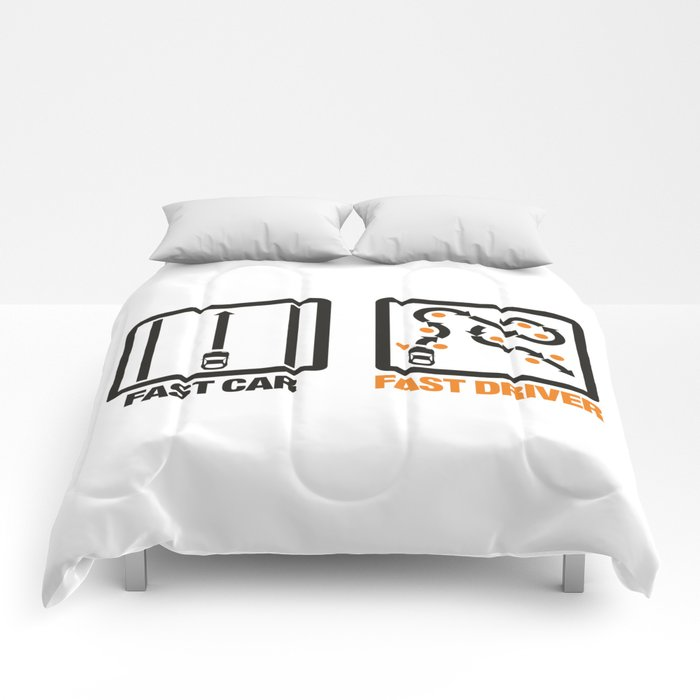 Fast Car - Fast Driver v1 HQvector Comforters