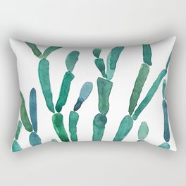Succulent rhipsalis watercolor Rectangular Pillow