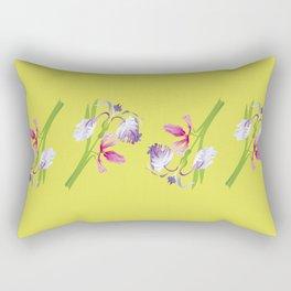 Beautiful Spring Irises Rectangular Pillow