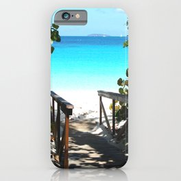 Trunk Bay walkway to beach, St. John iPhone Case