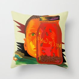 Alice in Chains - Jar of Flies  (Rock Album Cover) Throw Pillow