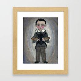 The Beetle Boy, An Edwardian Portrait Framed Art Print