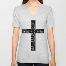 An Honest Cross Unisex V-Neck