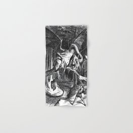 Jabberwocky Illustration from Alice in Wonderland Hand & Bath Towel