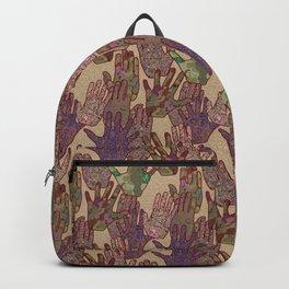 Give Me 5 [Hand Prints], Tan Backpack