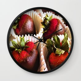 Exposed Berries Wall Clock