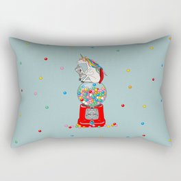 Unicorn Gumball Poop Rectangular Pillow
