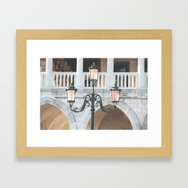 Venice Lights Framed Art Print
