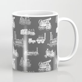 Antique Steam Engines // Charcoal Grey Coffee Mug