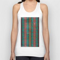 blanket Tank Tops featuring Geo Blanket by Emily Anne Thomas