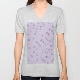 Lilac & purple puzzle Unisex V-Neck