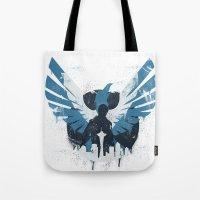 hero Tote Bags featuring Hero by Pixel Design