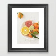 Cítricos Framed Art Print