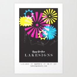 Lakesigns Poster - Martyr's 1-21-2012 Art Print