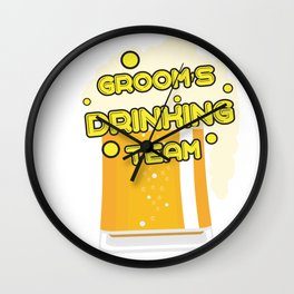 Team Groom - Groom's Drinking Team Funny Wall Clock