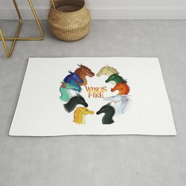Wings of Fire Dragon - All Together Painting Rug