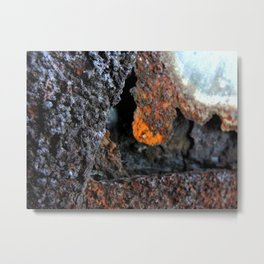 Pitting Metal Print