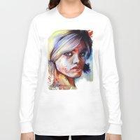 daisy Long Sleeve T-shirts featuring Daisy by Olga Noes