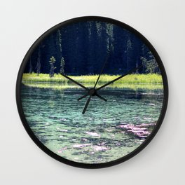 Pink and Teal Swamp Wall Clock