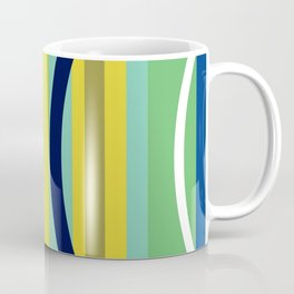 Midcentury Modernism Stripes & Circles Coffee Mug