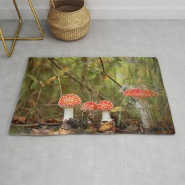 Toadstools like in a fairytale Rug