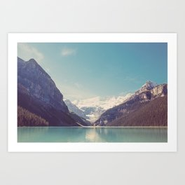 Lake Louise - Mountain Landscape, Nature Photography Art Print