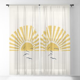 Minimalistic Summer I Sheer Curtain