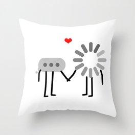 Loading Love Throw Pillow
