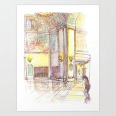 Golden Rotunda Art Print