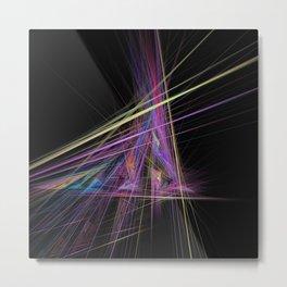 Bursting Fractal Triangle Metal Print