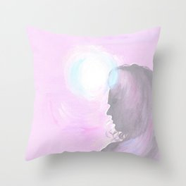Harry Styles in pink Throw Pillow