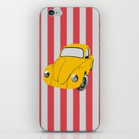 car iPhone & iPod Skins featuring car by vitamin
