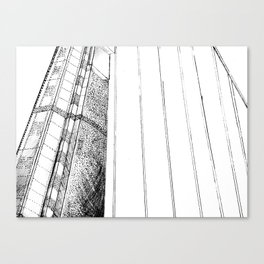 Monotone Bridge Canvas Print