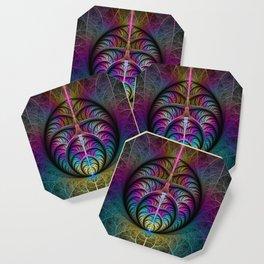 Colorful Fractal Art Fantasy Coaster