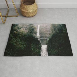 Multnomah Falls Waterfall in October - Landscape Photography Rug