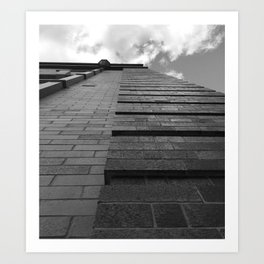 Vertical Brick Wall Architectural Photographic Print Art Print