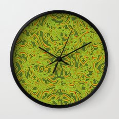 Sixties Swirl Wall Clock