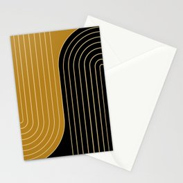 Two Tone Line Curvature IX Stationery Cards